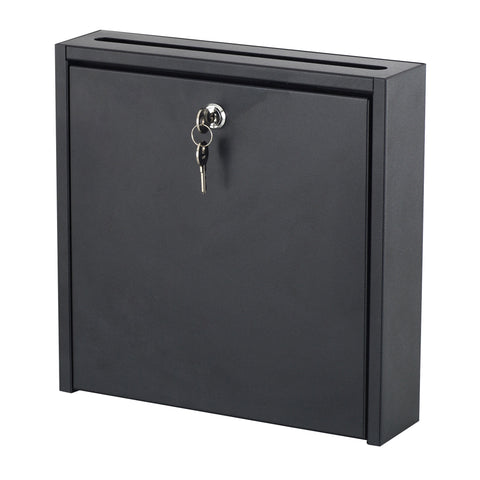 Wall-Mounted Interoffice Mailbox with Lock