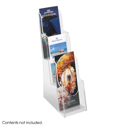 Acrylic 3 Pocket Pamphlet Display