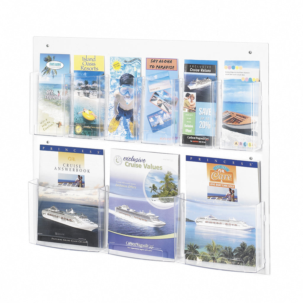 Clear2c™ 3 Magazine and 6 Pamphlet Display