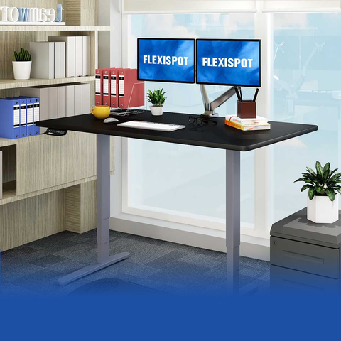 Flexispot: Electric Height Adjustable Desk: 3-Stage Premium Option E5
