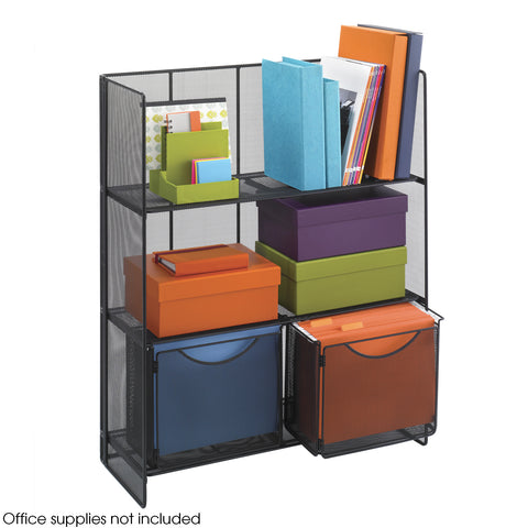Onyx™ Fold-Up Shelving, Mesh, Black