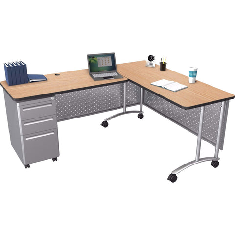 Modular Teacher's Sit-Stand Return Desk Set - 72""