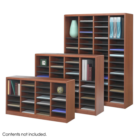 E-Z Stor® Wood Literature Organizer, 24 Compartments