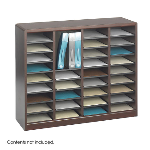 E-Z Stor® Wood Literature Organizer, 36 Compartments