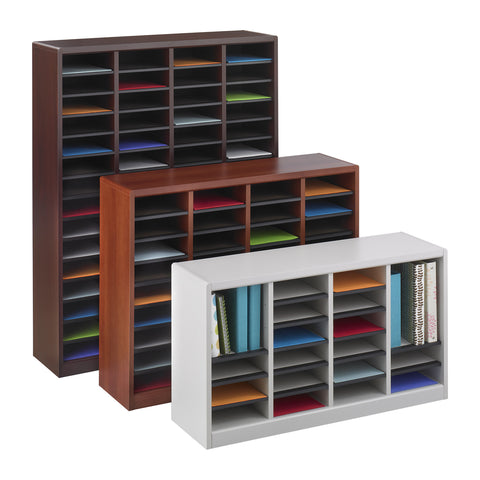E-Z Stor® Wood Literature Organizer, 60 Compartments