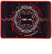 "Techni Sport Colossal Circuit Gaming Mouse Red Pad 18"" x 18"""