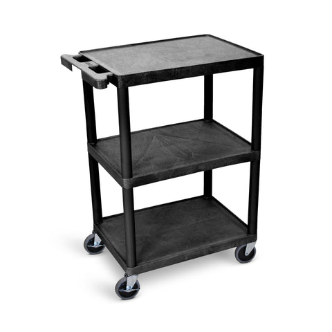 Utility Cart - 3 Shelves Structural Foam Plastic