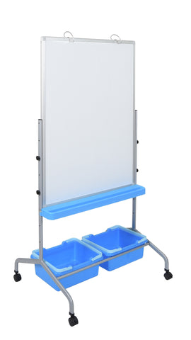 Classroom Chart Stand with Storage Bins