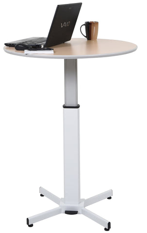 LX-PNADJ-ROUND - Pneumatic Adjustable Round Pedestal Table