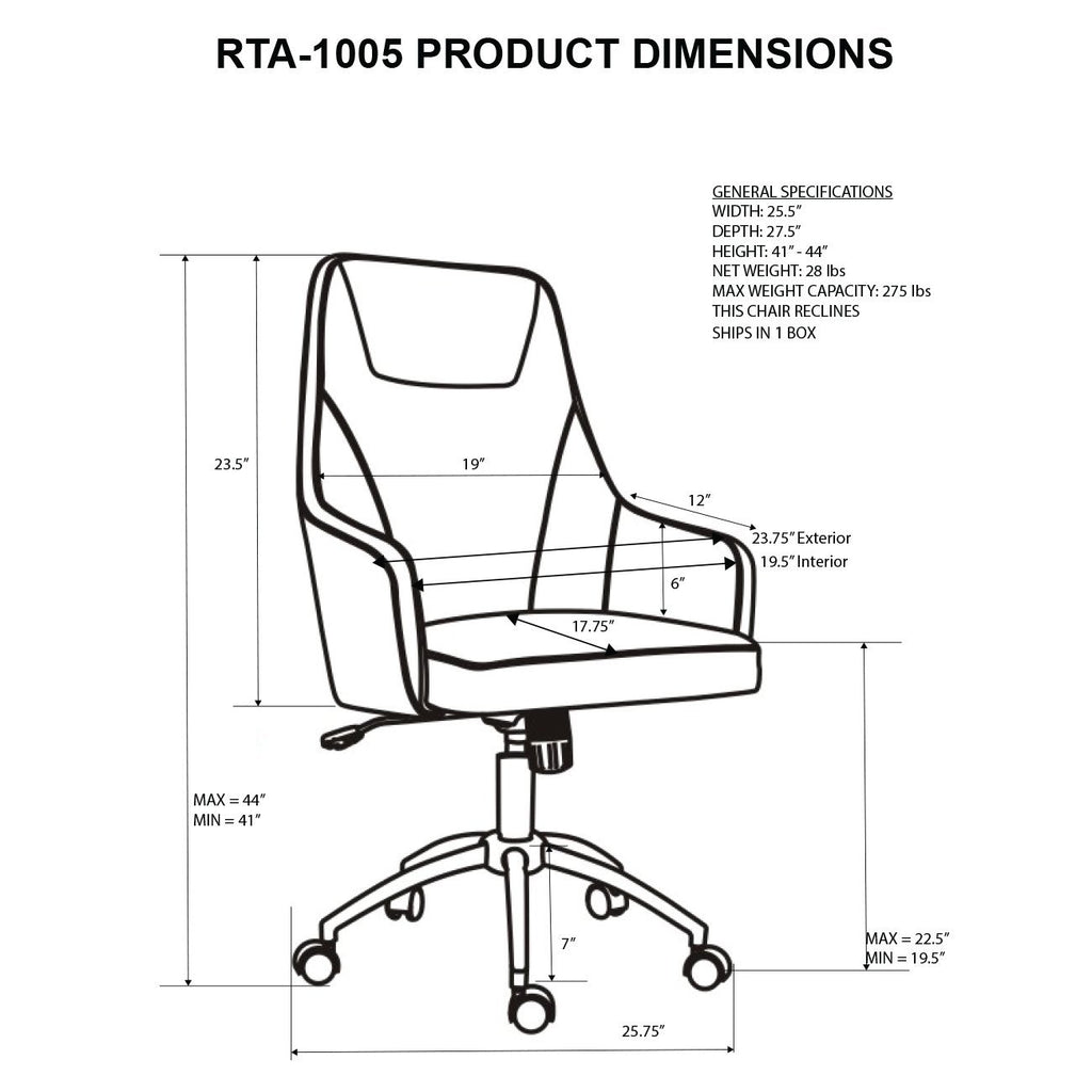 Fantastic Comfy Height Adjustable Rolling Office Chair With Wheels Caraccident5 Cool Chair Designs And Ideas Caraccident5Info