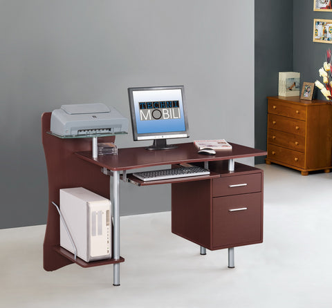 Techni Mobili Computer Desk Chocolate