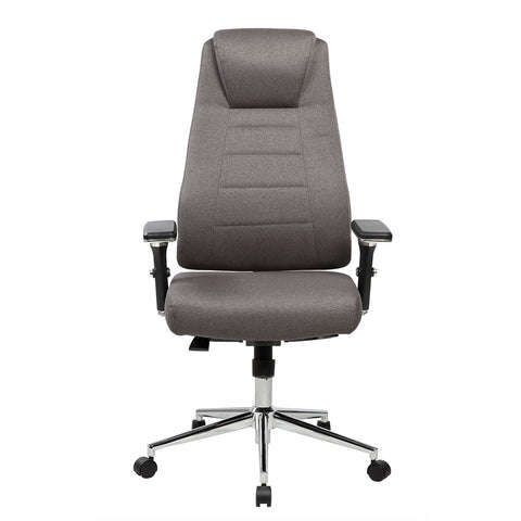 Techni Mobili Comfy Height Adjustable Executive Home Office Chair with Wheels