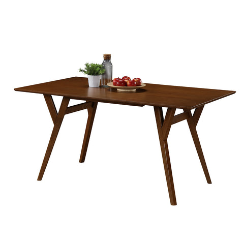 Casual Rectangluar Wood Dining Room Table.