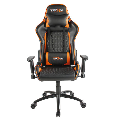 Techni Sport TS-5000 Ergonomic High Back Computer Racing Gaming Chair. Color: Orange