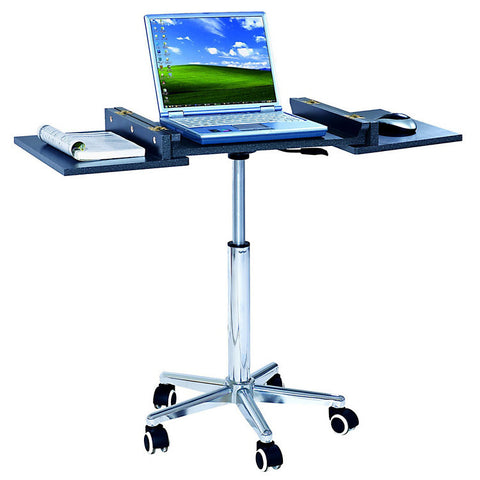 Height-Adjustable Laptop Stand with 2 Worksurfaces