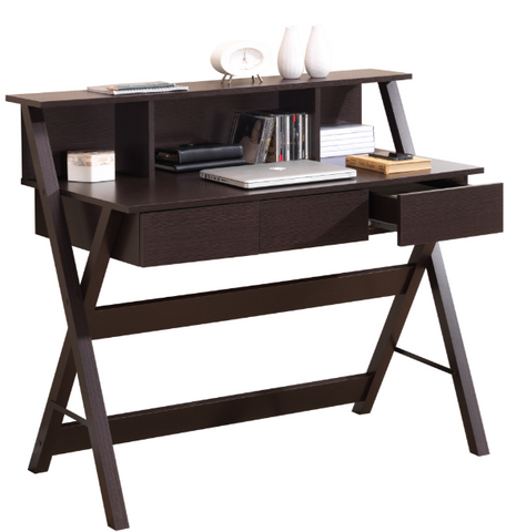Techni Mobili Fashionable Workstation with Shelf and Storage