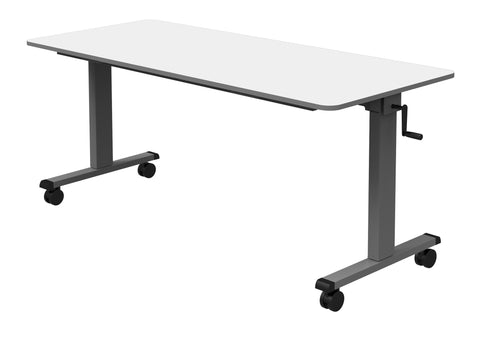 "60"" Adjustable Flip-Top Table, Crank Handle"