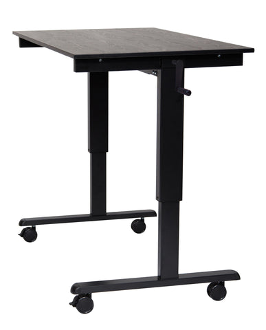 "48"" High Speed Crank Adjustable Stand Up Desk"