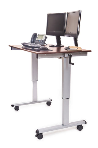 48″ Crank Adjustable Stand Up Desk