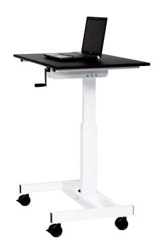 "40"" Single-Column Crank Stand Up Desk"