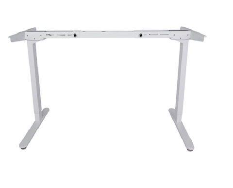 "FlexiSpot 48"" Electric Height Adjustable Standing Desk Frame Only Ergonomic Solid Steel Sit-to-Stand Desk W/ 7-Button, White"