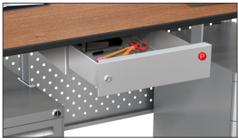 Modular Teacher's Trend Locking Pencil Drawer
