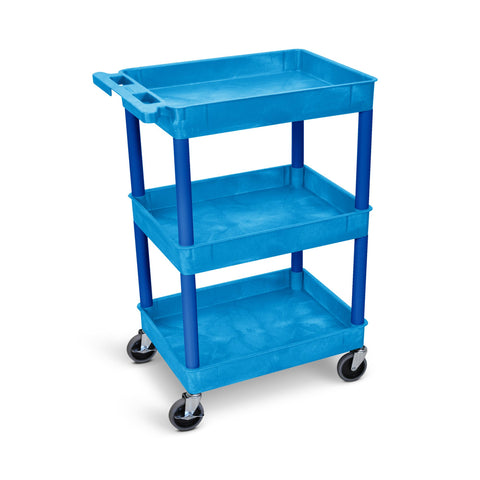 Flat Top/Bottom and Tub Middle Shelf Cart