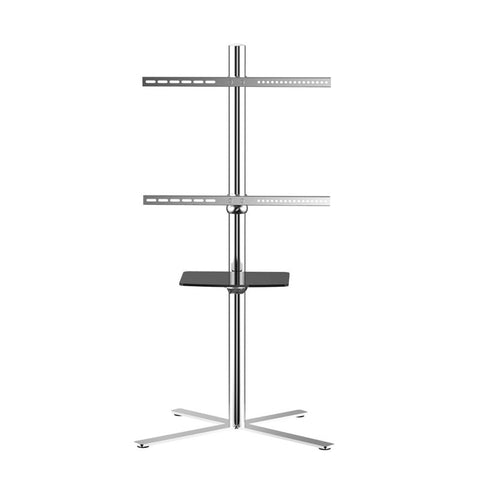 "Fleximounts C02 Stainless Mobile TV Cart LCD Stand for 32""-60"" 4K LCD/LED Plasma Flat Panel Screen."
