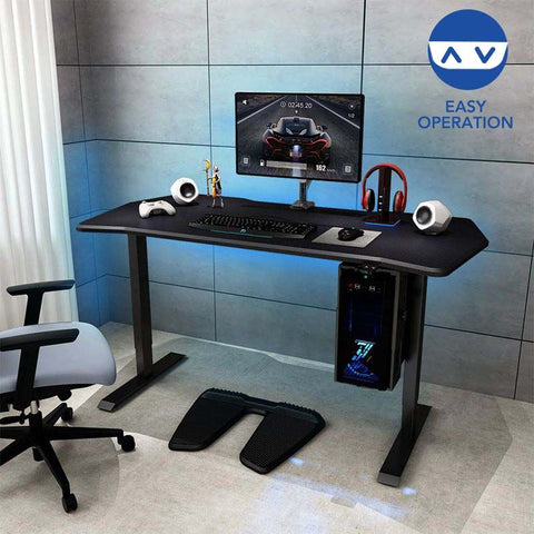"Flexispot: Electric Height Adjustable Gaming Desk - 55"" W"