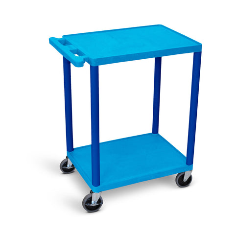 Utility Cart - Two Shelves Structural Foam Plastic