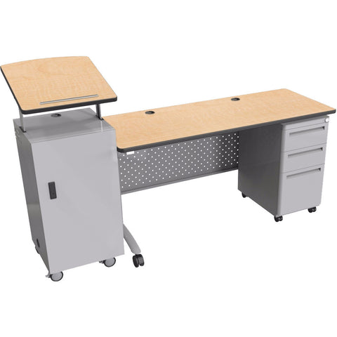 Modular Teacher's Sit-Stand Podium Desk Set