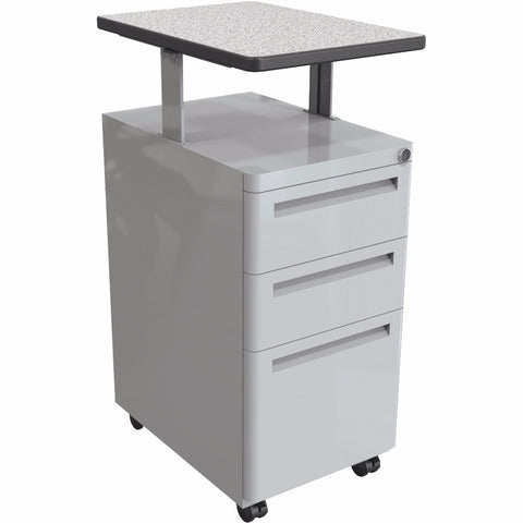 Modular Teacher's Sit-Stand File Cabinet