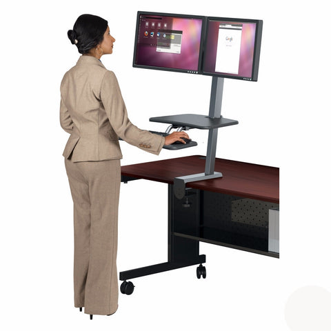 Up-Rite Desk Mounted Sit and Stand Workstation