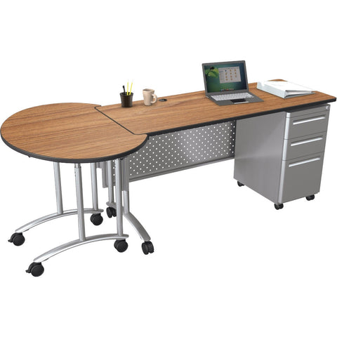 Modular Teacher's Sit-Stand Conference Desk Set