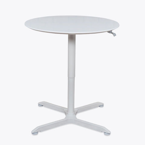"32"" PNEUMATIC HEIGHT ADJUSTABLE ROUND CAFÉ TABLE"