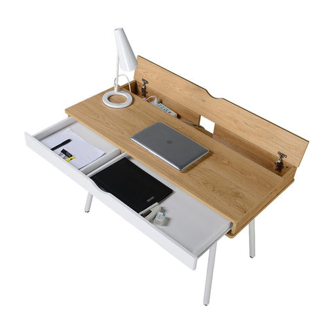 Techni Mobili Workstation with Cord Management and Storage