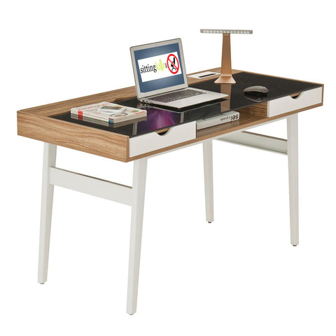 Compact Computer Desk with Multiple Storage