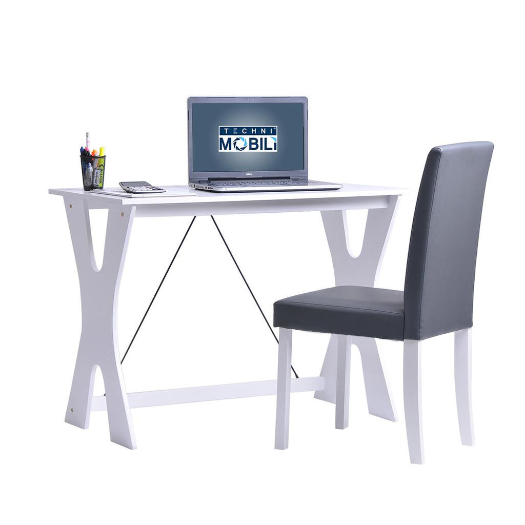 Techni Mobili Modern Matching Desk and Chair Set