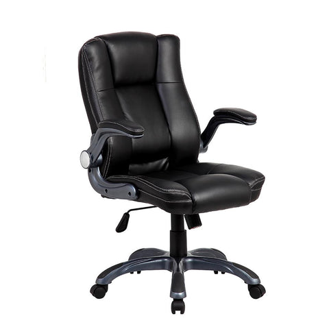 Techni Mobili Medium Back Manager Chair with Flip-up Arms