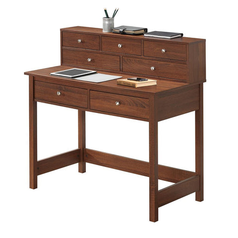 Elegant Writing Desk with Storage And Hutch