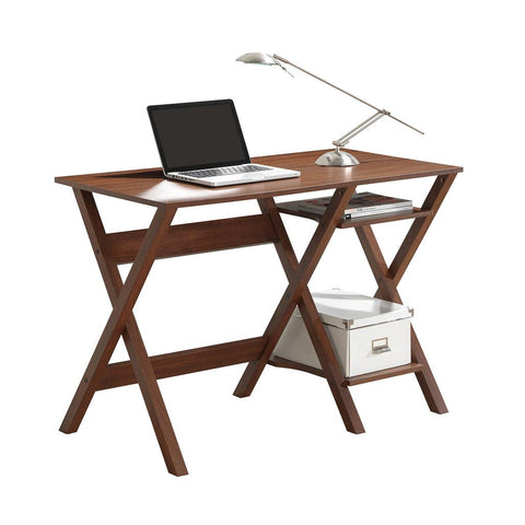 Techni Mobili Stylish Workstation with Side Shelves