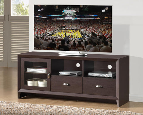 "TECHNI MOBILI MODERN TV STAND WITH STORAGE FOR TVS UP TO 60"", WENGE"