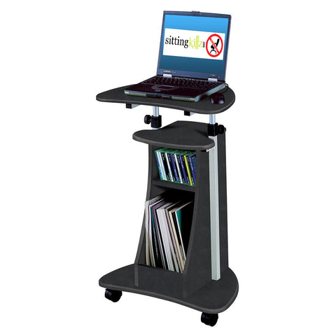 Techni Mobili Rolling Laptop Cart with Storage
