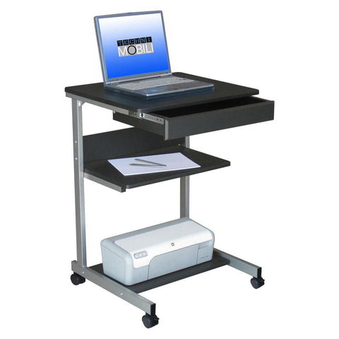 Techni Mobili Rolling Laptop Desk with Storage