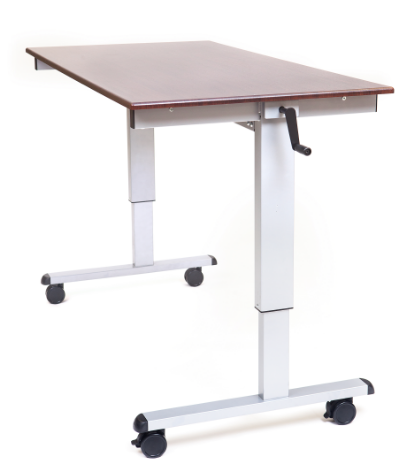 "60"" High Speed Crank Adjustable Stand Up Desk"