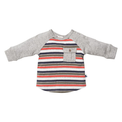 Fox & Finch Baby –  Stockholm Mixed Strip Long Sleeve Tee RW155117