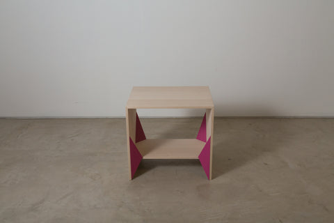 VENEER 0004 - Pink accented side table