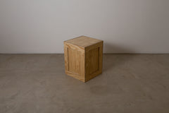VINTAGE 0004 - A Douglas Fir plywood box side table