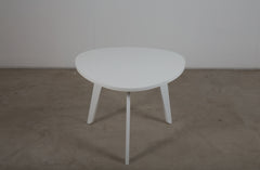 A white lacquered table