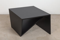Matte lacquered side table